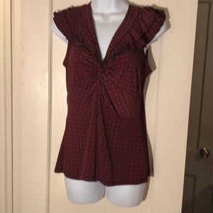 Red and black knot front top size Large